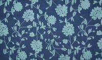 Chambrai CLOONEY Embroidered Cotton Denim Fabric Material - Aqua